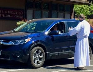 Join us for Parking Lot Communion each Sunday